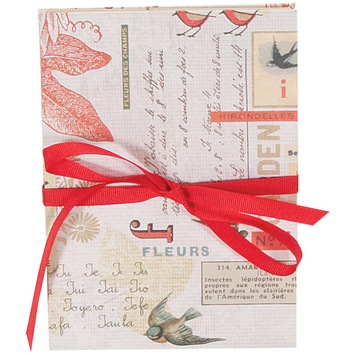 Lineco Accordion Album Kit with Ivory Pages and Red Bird Cover