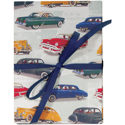 """Lineco Accordion Album with Ivory Pages & Vintage Cars Cover (5.25 x 7.25"""")"""