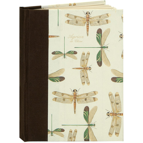 "Lineco Blank Book Kit with Ivory Pages (Dragonflies Cover, 5.25 x 7.25"")"