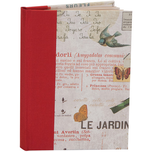 """Lineco Blank Book Kit with Ivory Pages (Red Bird Cover, 5.25 x 7.25"""")"""