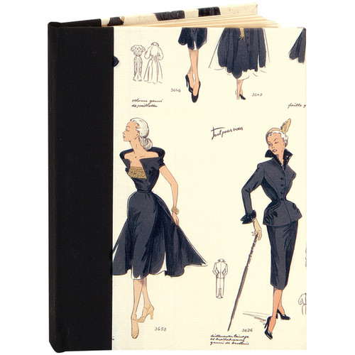 """Lineco Blank Book Kit with Ivory Pages (Women's Fashion Cover, 5.25 x 7.25"""")"""