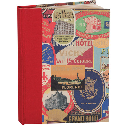 "Lineco Blank Book Kit with Ivory Pages (Travel Stickers Cover, 5.25 x 7.25"")"