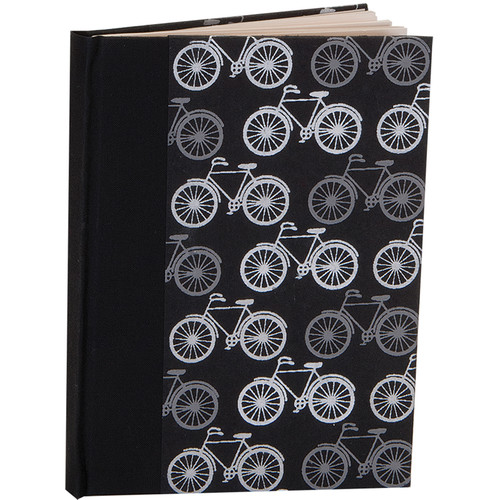 """Lineco Blank Book Kit with Ivory Pages (Bicycles Cover, 5.25 x 7.25"""")"""
