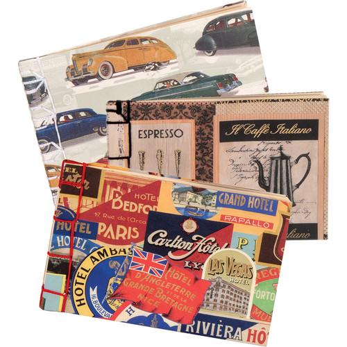 "Lineco Japanese Stab Binding Kit (Vintage Cars, 4 x 6"")"