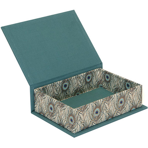 """Lineco Box with Lid Kit (Peacock Feathers, 5.25 x 7.25"""")"""