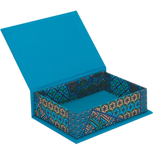 "Lineco Box with Lid Kit (Blue Geometric, 5.25 x 7.25"")"