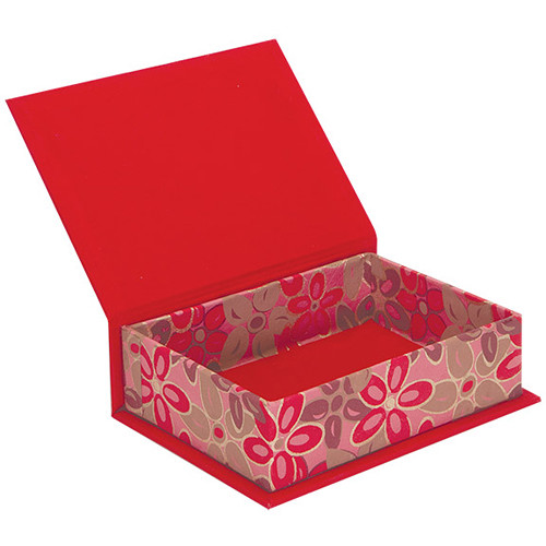"""Lineco Box with Lid Kit (Pink-Red Flower, 5.25 x 7.25"""")"""