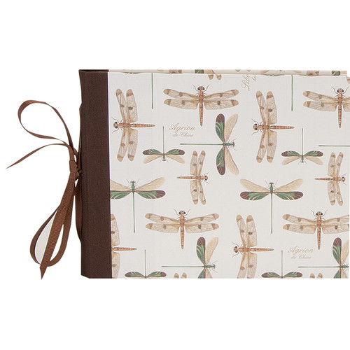 """Lineco Guest Book Kit with 24 Printed Ivory Pages (Dragonflies Cover, 7 x 10.5"""")"""