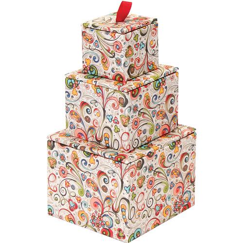 "Lineco Stacking Box Tower Kit (Art-Nouveau Flowers, 4 x 4 x 5"")"