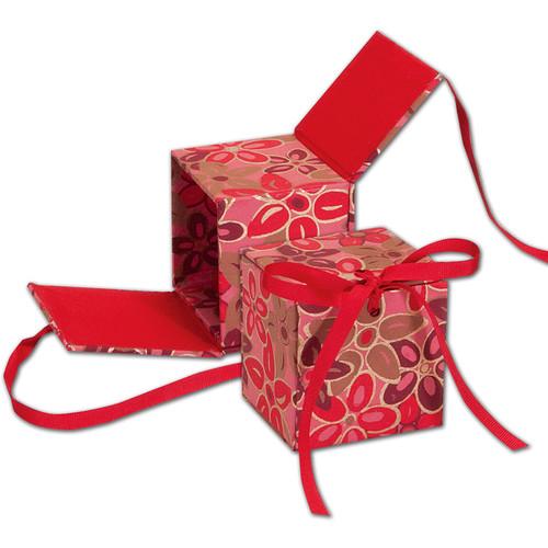 "Lineco Japanese Sho-Sho Box Kit (Pink-Red Flower, 3.25 x 3.5 x 3.25"")"