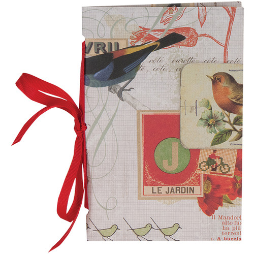 "Lineco Tibetan Books Kit (Set of 2, Red Bird Cover, 4.25 x 6.5"" & 5 x 7.5"")"