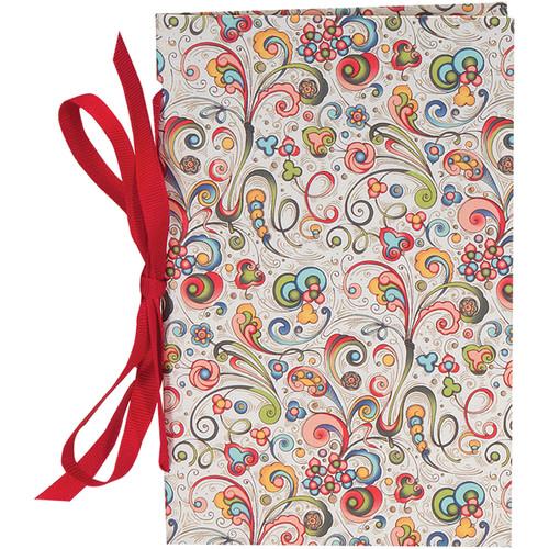 """Lineco Tibetan Books Kit (Set of 2, Art-Nouveau Flowers Cover, 4.25 x 6.5"""" & 5 x 7.5"""")"""
