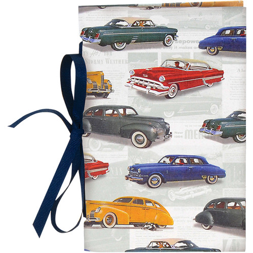"Lineco Tibetan Books Kit (Set of 2, Vintage Cars Cover, 4.25 x 6.5"" & 5 x 7.5"")"
