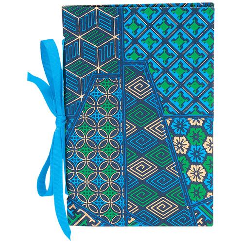 "Lineco Tibetan Books Kit (Set of 2, Blue Gemoetric Cover, 4.25 x 6.5"" & 5 x 7.5"")"