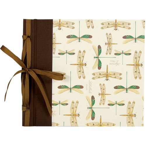 """Lineco Ribbon Bound Album with Top Load Pages (Dragonflies Cover, 9 x 10"""")"""