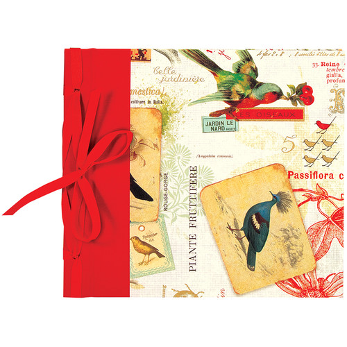 """Lineco Ribbon Bound Album with Top Load Pages (Red Bird Cover, 9 x 10"""")"""