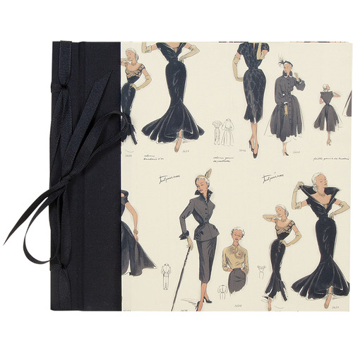 """Lineco Ribbon Bound Album with Top Load Pages (Women's Fashion Cover, 9 x 10"""")"""