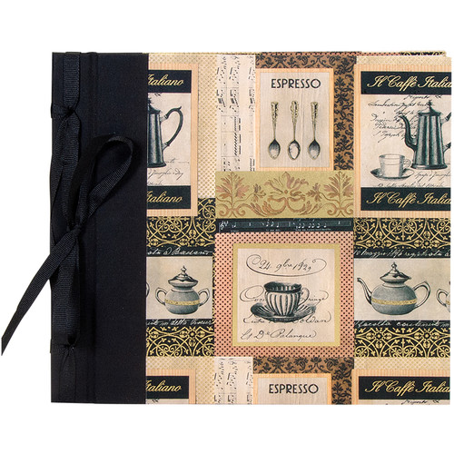 "Lineco Ribbon Bound Album with Top Load Pages (Caffe Italiano Cover, 9 x 10"")"