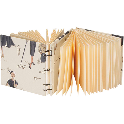 """Lineco Dos-a-Dos Coptic Journal Kit with Ivory Pages (Women's Fashion Cover, 4.25 x 4.25"""")"""