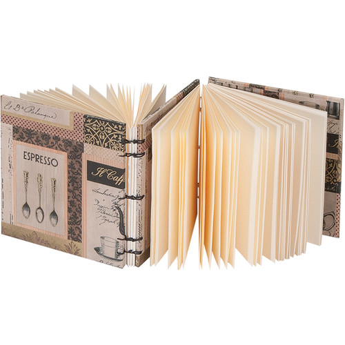 """Lineco Dos-a-Dos Coptic Journal Kit with Ivory Pages (Caffe Italiano Cover, 4.25 x 4.25"""")"""