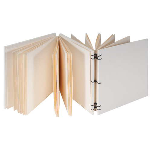 """Lineco Dos-a-Dos Coptic Journal Kit with Ivory Pages (Blank Cover, 4.25 x 4.25"""")"""