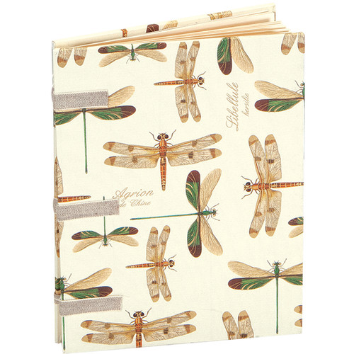 "Lineco Linen Tape Journal Kit with Ivory Pages (Dragonflies Cover, 5 x 7"")"