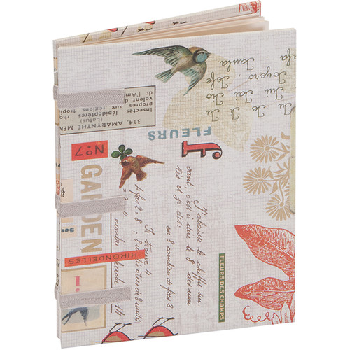 """Lineco Linen Tape Journal Kit with Ivory Pages (Red Bird Cover, 5 x 7"""")"""