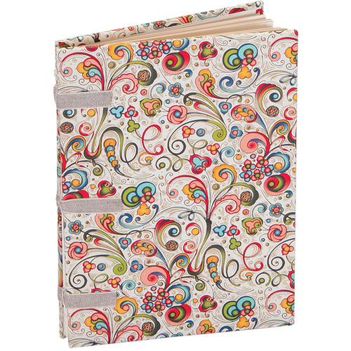 """Lineco Linen Tape Journal Kit with Ivory Pages (Art-Nouveau Flowers Cover, 5 x 7"""")"""