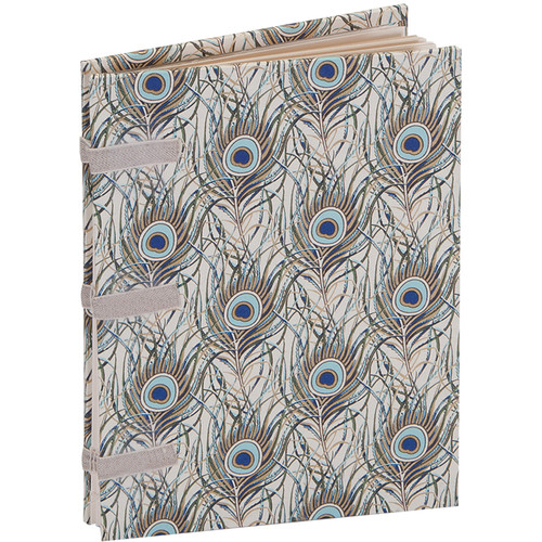 """Lineco Linen Tape Journal Kit with Ivory Pages (Peacock Feathers Cover, 5 x 7"""")"""