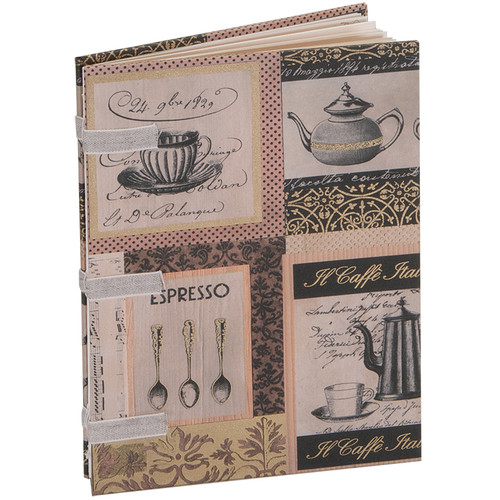 "Lineco Linen Tape Journal Kit with Ivory Pages (Caffe Italia Cover, 5 x 7"")"