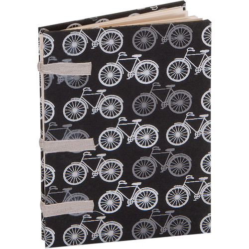 "Lineco Linen Tape Journal Kit with Ivory Pages (Bicycles Cover, 5 x 7"")"