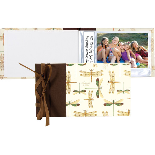 "Lineco Ribbon-Bound Brag Book Kit (Dragonflies, 6.75 x 4.7"")"