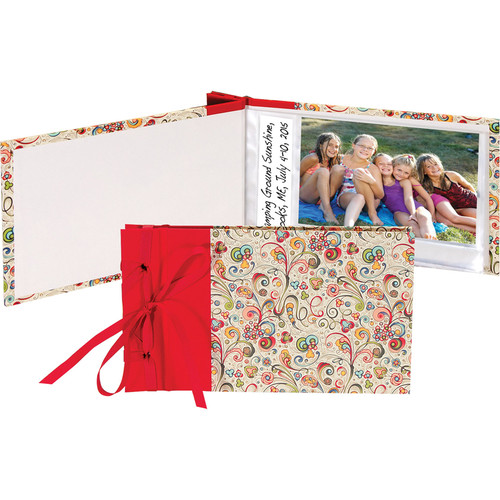 "Lineco Ribbon-Bound Brag Book Kit (Art-Nouveau Flowers, 6.75 x 4.7"")"