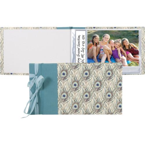 "Lineco Ribbon-Bound Brag Book Kit (Peacock Feathers, 6.75 x 4.7"")"