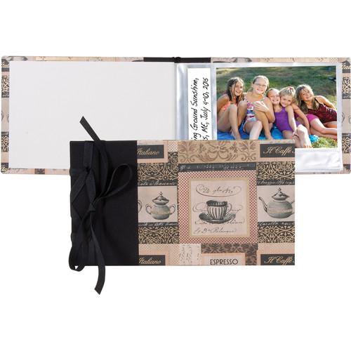 "Lineco Ribbon-Bound Brag Book Kit (Caffe Italiano, 6.75 x 4.7"")"