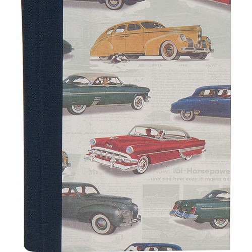 Lineco Address Book Kit with Printed Tabbed Index (Vintage Cars Cover)
