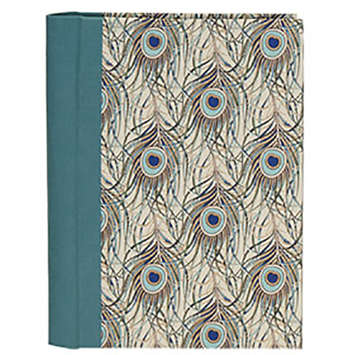 Lineco Address Book Kit with Printed Tabbed Index (Peacock Feathers Cover)