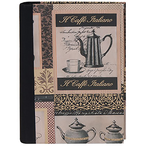 Lineco Address Book Kit with Printed Tabbed Index (Caffe Italiano Cover)