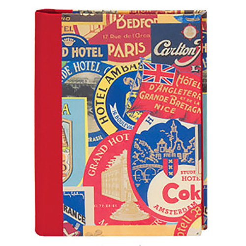 Lineco Address Book Kit with Printed Tabbed Index (Travel Stickers Cover)