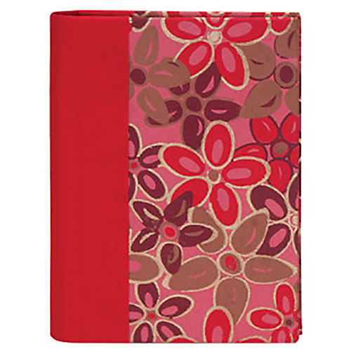 Lineco Address Book Kit with Printed Tabbed Index (Pink-Red Flower Cover)
