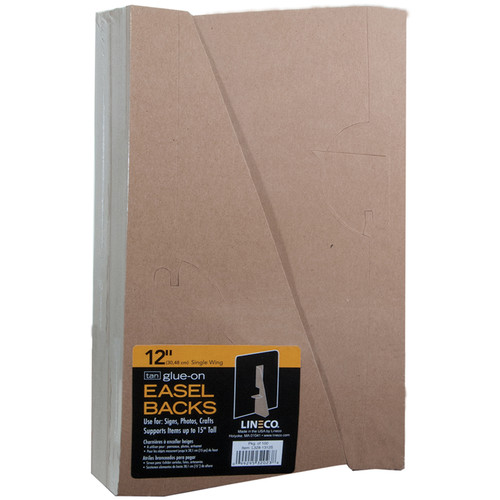 "Lineco 12"" Glue-On Easel Back (Tan, Pack of 100)"