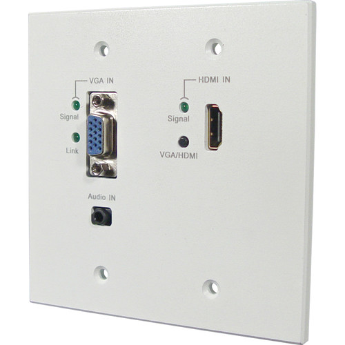 Link Bridge HDMI/VGA HDBaseT Wall Plate Transmitter