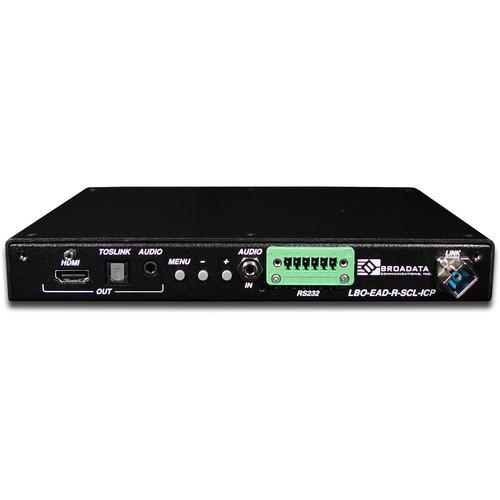 Link Bridge HDMI Video Scaler/Receiver with Inline Control Ports (MMF-SC, 1-Fiber)