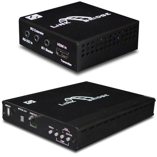 Link Bridge 3Play HDBaseT Lite HDMI Transmitter & 5Play Auto-Scaling Receiver Kit (197')