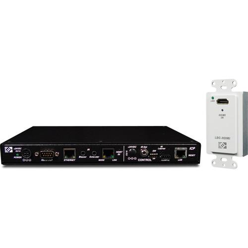 Link Bridge HDBaseT HDMI Wall Plate Transmitter & HDBaseT ICP Scaling Receiver Kit (230')