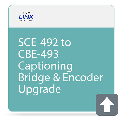 Link Electronics SCE-492 to CBE-493 Captioning Bridge & Encoder Upgrade