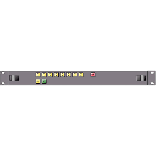 Link Electronics 1RU 8x1 Single-Bus AFV Control Panel with Video-Only, Audio-Only Breakaway, & Bus-Lock