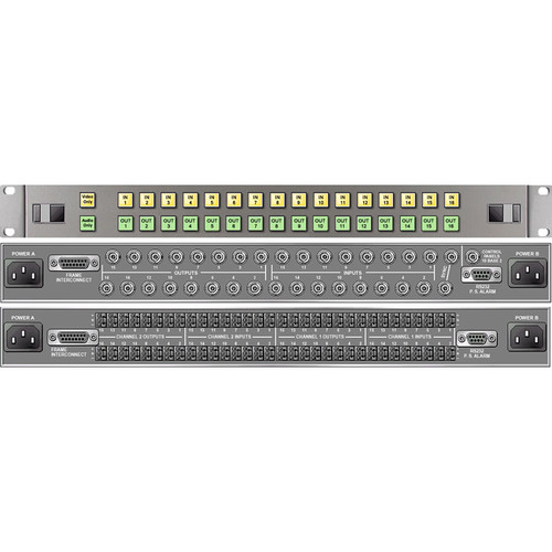Link Electronics 16 x 16 Analog Video Routing Switcher with Stereo Audio