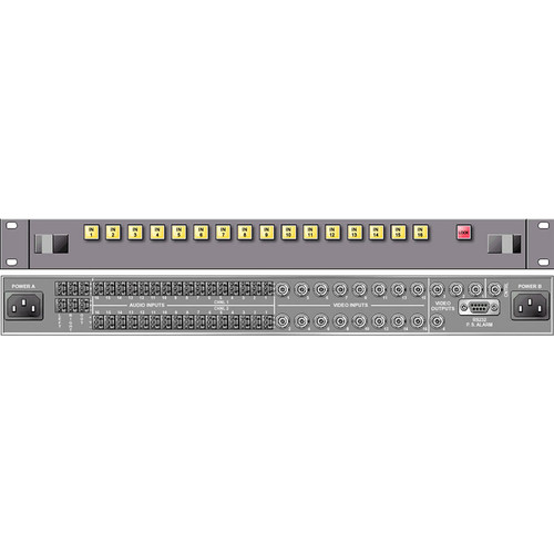 Link Electronics 16 x 1 Analog Video Routing Switcher with Stereo Audio