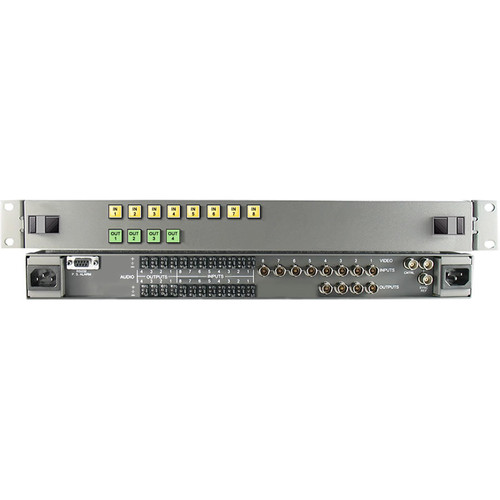 Link Electronics 8 x 4 HD/SDI Video Routing Switcher with Stereo Audio